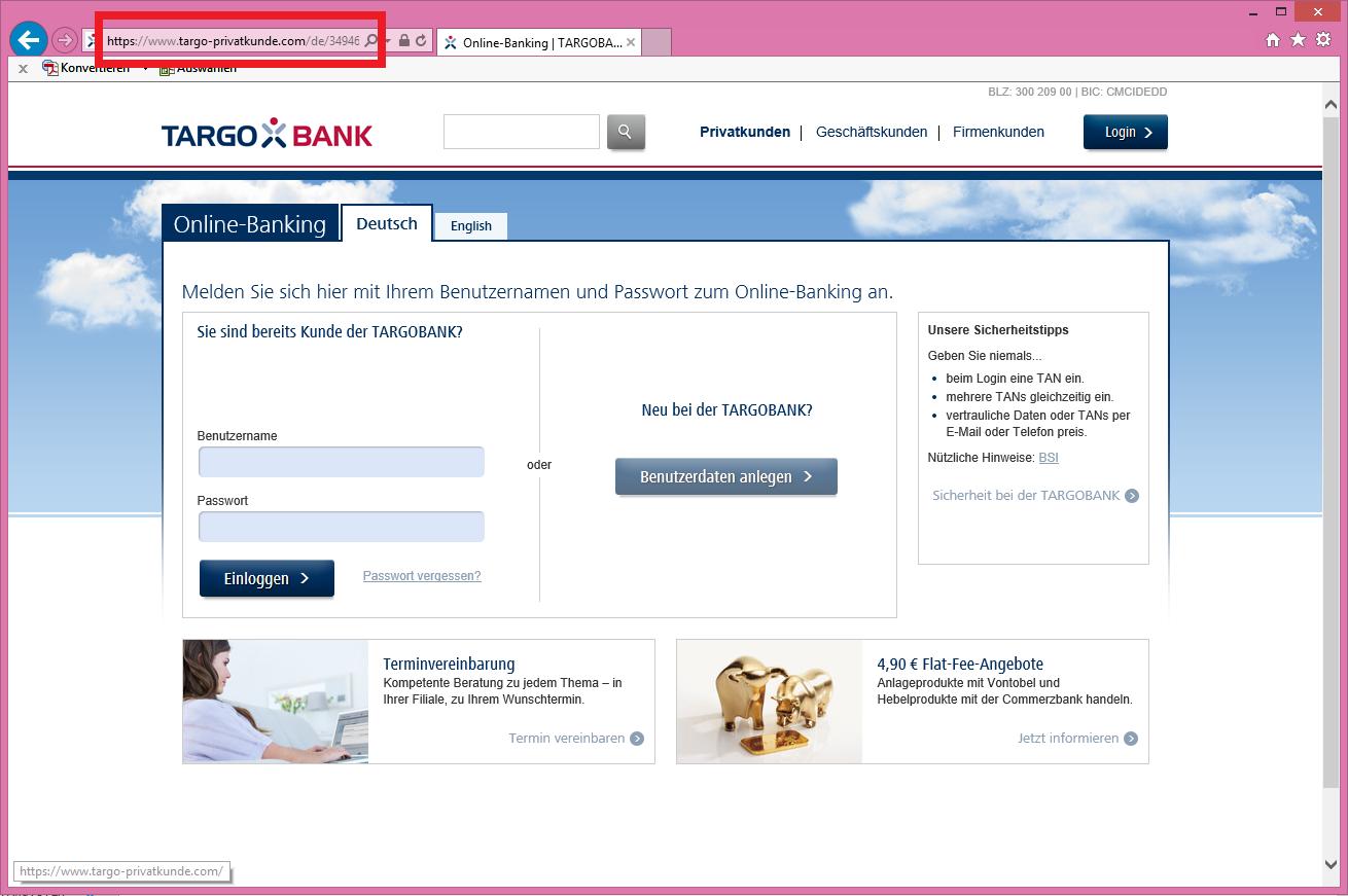 Targobank Online Гјberweisung